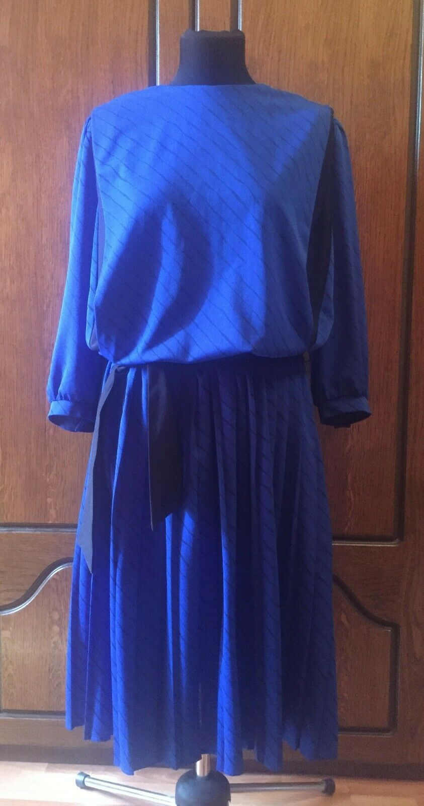 Woman Vintage bluee Dress Size  US 14 Made in England