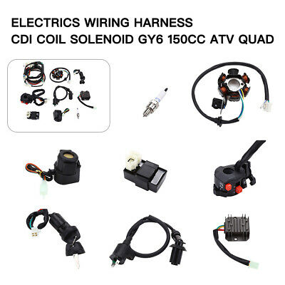 go kart gy6 wiring harness electrics wiring harness cdi regulator start switch gy6 150cc for  electrics wiring harness cdi regulator