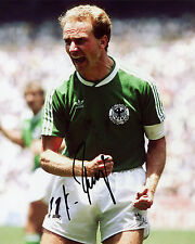 Karl-Heinz Rummenigge - West Germany - Mexico'86 -  Signed Autograph REPRINT