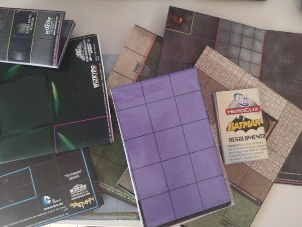 Heroclix Dc E Marvel Set Di 11 Mappe Da Gioco Miniature Luminoso A Colori