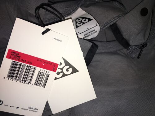Nike NikeLab ACG Component Fleece Top Cool Grey Men/'s AJ2760-065 Hoodie Rare