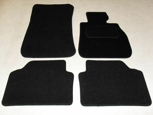 BMW 1 Series E81 2007-11 Fully Tailored Deluxe Car Mats in Black.
