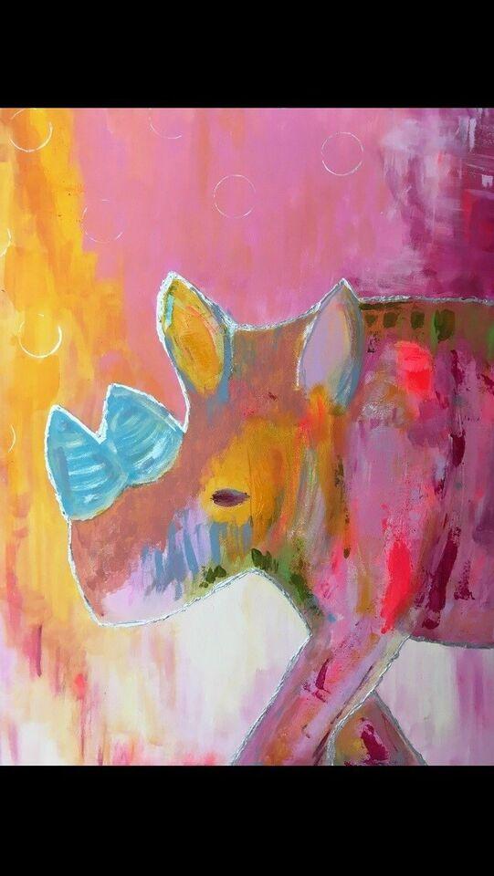 Akrylmaleri, Eget, motiv: Dyr