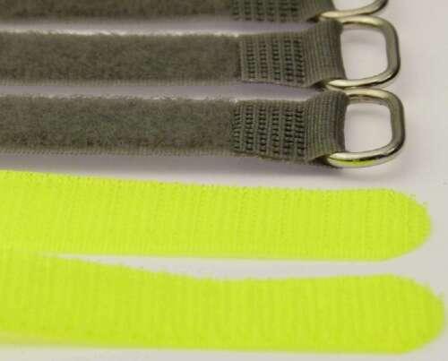 20 x Kabelklett Klettband 300 x 20 mm neon gelb FK Klett Kabelbinder Klettbänder