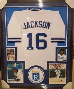 official photos b6d94 6e837 Details about BO JACKSON KANSAS CITY ROYALS AUTOGRAPHED JERSEY CUSTOM  FRAMED JSA COA !!!