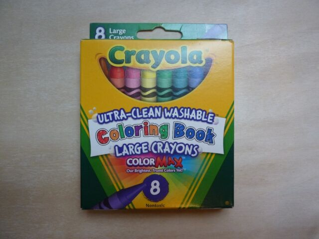 Crayola Washable Crayons Coloring Book Large 8 Count C258 for sale ...