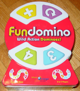 FUNDOMINO WILD ACTION DOMINOES GAME 2008 blueE orange GAMES NEW SEALED PARTS COM