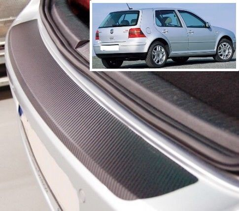 VW Golf 3/5 door MK4 - Carbon Style rear Bumper Protector