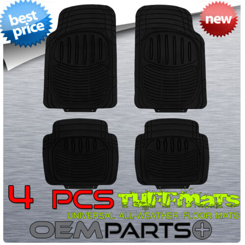 NEW 4 PCS RUGGED TUFF FLOOR MATS SUV ODORLESS WATER PROOF TRIM TO FIT UNIVERSAL