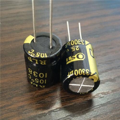 10pcs 3300uF 25V OST RLP 16x20mm Low ESR 25V3300uF Electrolytic Capacitor