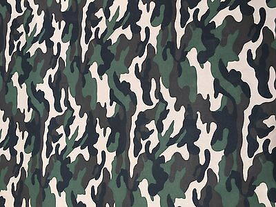 """Camo Cotton Drill Fabric 149cm 58/"""" Wide Army Camouflage Material"""