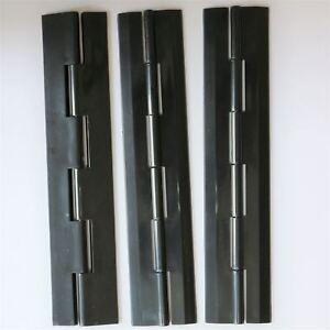 3-x-Acryl-Scharnier-200mm-x-42mm-SCHWARZ-Scharniere-Bestaendige-Acryl-Beschlaege