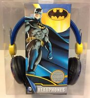 Batman Headphones Kids Safe Volume Limiter Over The Ear Dc Comics