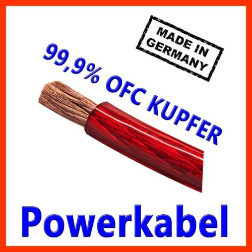 25mm2 cables eléctricos power cable made in Germany Carhifi OFC cobre 25mm 25mm² rojo