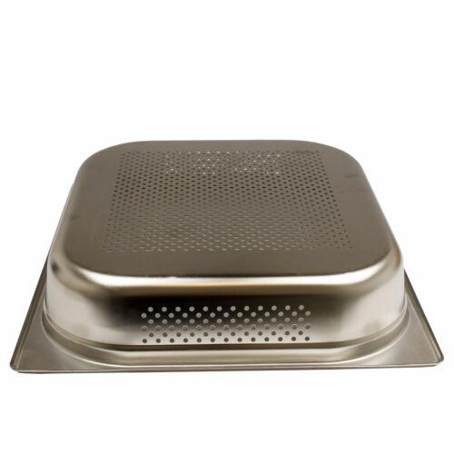 GN 2//3 Gastronormbehälter GN-Behälter Edelstahl 4 Liter Tiefe 65mm gelocht