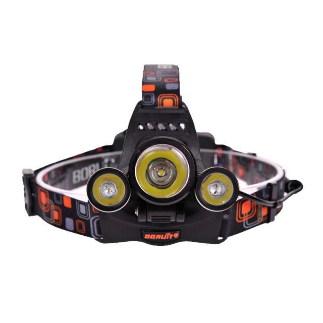 2015 Neu Top 3x CREE XM-L LED 5000Lm Stirnlampe Kopflampe Headlamp Headlight