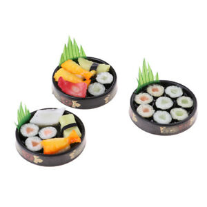 Sushi Bento Lunch For Miniature Dollhouse Handmade Food Home Kitchen Decor  OJ