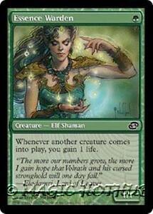 ESSENCE WARDEN Planar Chaos MTG Green Creature — Elf Shaman Com