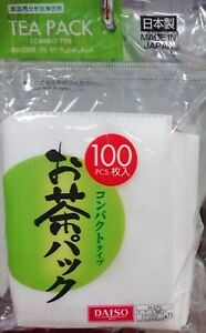 DAISO-Tea-Pack-Compact-Type-100-bags-Leaf-Filter-JAPAN-F-S