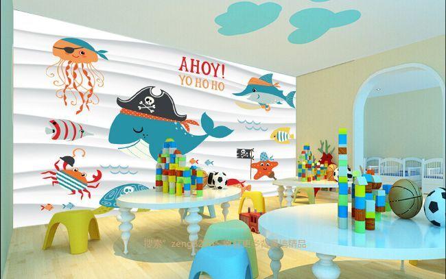 3D Karikatur Delphin 6272 Fototapeten Wandbild Fototapete BildTapete Familie DE