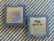 New Listinglot Of 2 Intel Pentium Double Gold Cpu Processor For Scrap Gold Recovery