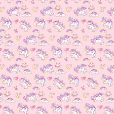 Printed Bow Fabric A4 Canvas Unicorns /& Rainbows U10 Make glitter bows