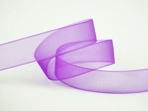 200YDS-100YDS-x-2-Rolls-16MM-Organza-Ribbon-Purple
