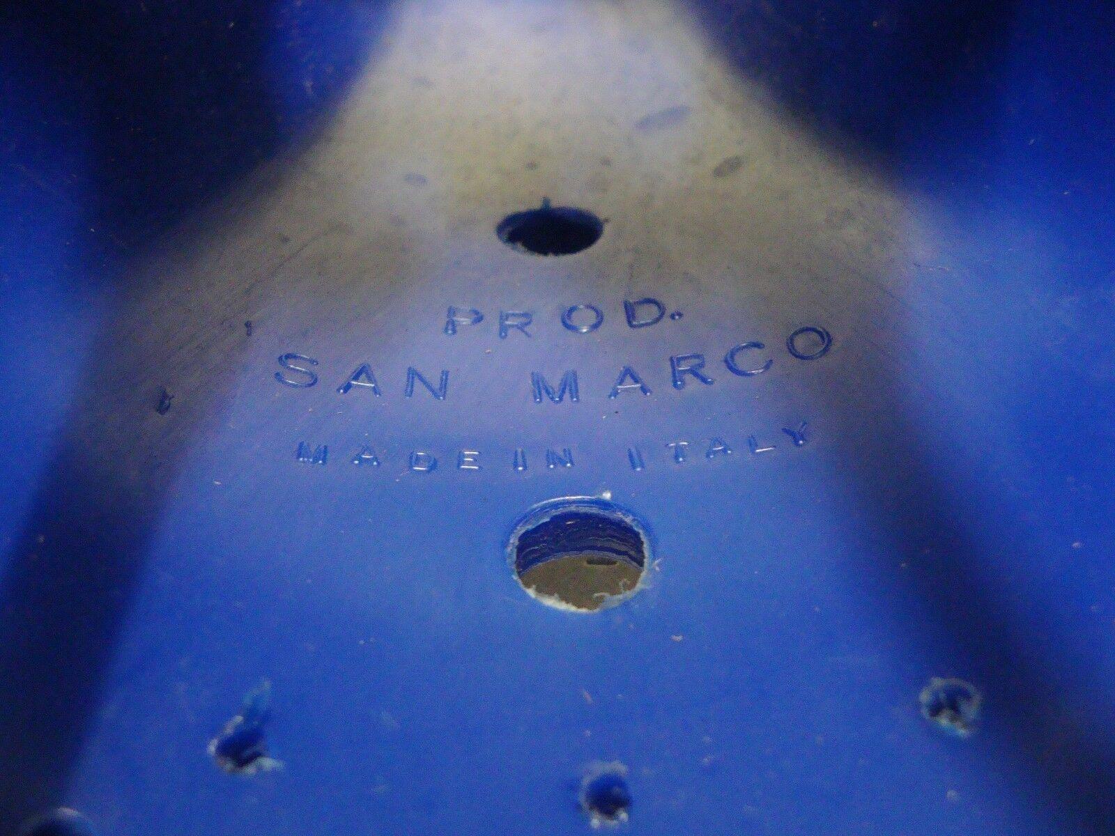Las San Marco Silla Asiento Bmx Azul 458gr Hecho Hecho 458gr En Italia db9755