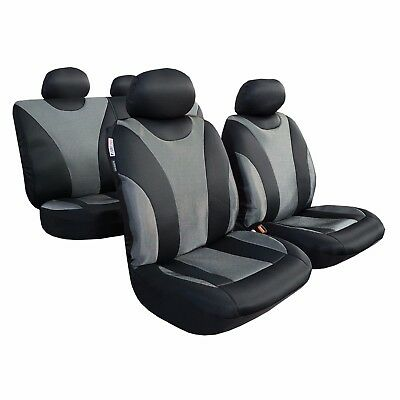 Full Set Carbon Black Mesh Car Seat Covers Universal Fit For Nissan Frontier