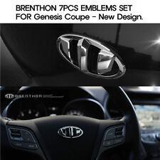 Brenthon emblems 7pcs set - fits Hyundai Genesis Coupe 2013+