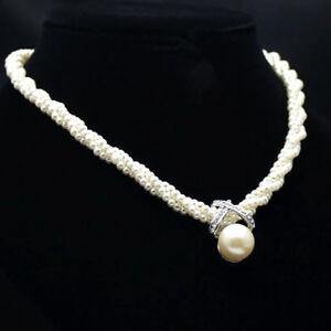 EE-EG-Women-Pendant-Chain-Choker-Chunky-Pearl-Statement-Bib-Necklace-Jewelry-H