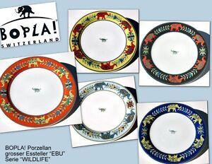 EBU-BOPLA-Porzellan-27cm-grosser-Essteller-Fleischteller-large-Plate-10-5-8