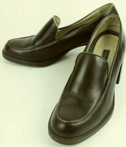 GH-Bass-Co-R293-Wos-7-5-Brown-Leather-Loafers-Shoes-Work-School-Dress-Brazil-058