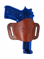 Barsony Burgundy Leather Gun Quick Slide Holster Steyr Walther Full Size 9mm