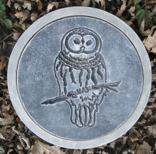 Owl  stepping stone plastic mold forest  MOULD