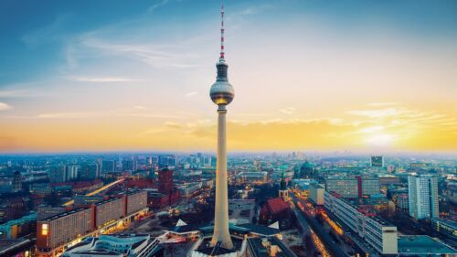 Fernsehturm Berlin Tower City Poster Print T142 A4 A3 A2 A1 A0|