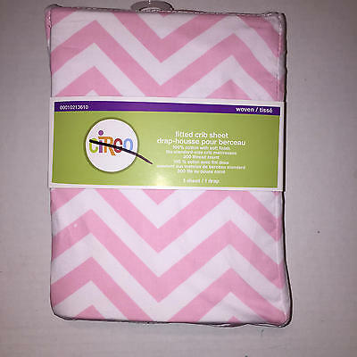 New Circo Chevron Zig Zag Fitted Cotton Crib or Toddler Sheet Purple and White