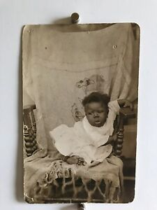 Americana-African-American-Baby-Christening-Toes-Photo-Black-White-1916-WW1-W19
