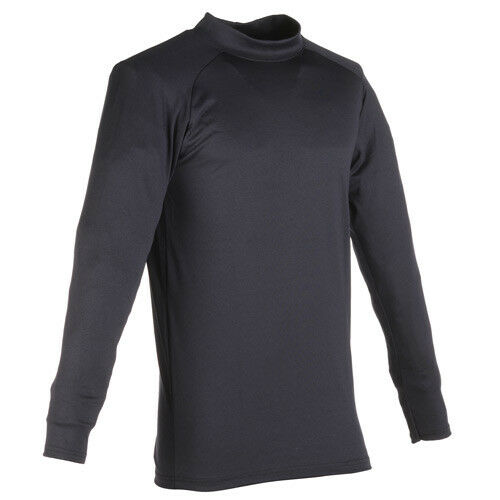 Men/'s Army Thermal Fechheimer Base Layer Shirt Mock-Neck Navy Blue Flying Cross
