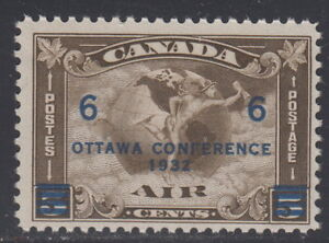 Canada-C4-6-On-5-Surcharged-Ottawa-Conference-Airmail-Mint-Never-Hinged-B