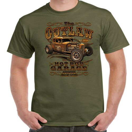 Hotrod 58 T Shirt The Outlaw American Garage Vintage Classic Hot Rat Rod Car 59