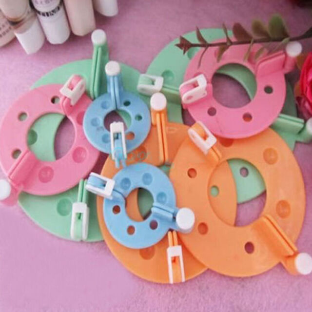 Brand New 8pcs (4 Sizes) Pom Pom Fluffy Ball Maker DIY Craft Tool Needle Weaver