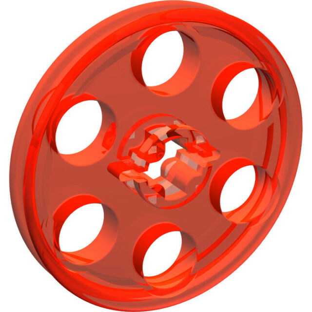 Lego - Roue Poulie (ORANGE FLUO TRANSP) Wedge Belt Wheel - 6124680 - 4185