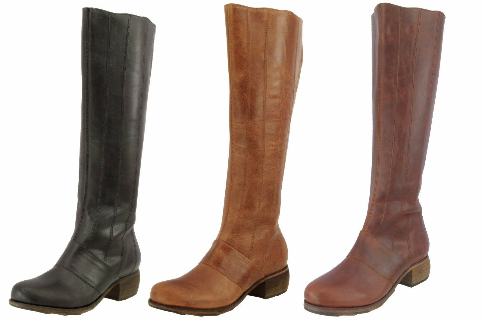 OLUKAI SAMPLE WOMEN'S KUMUKAHI ANTIQUED FULL GRAIN TALL LEATHER  BOOTS  US 7