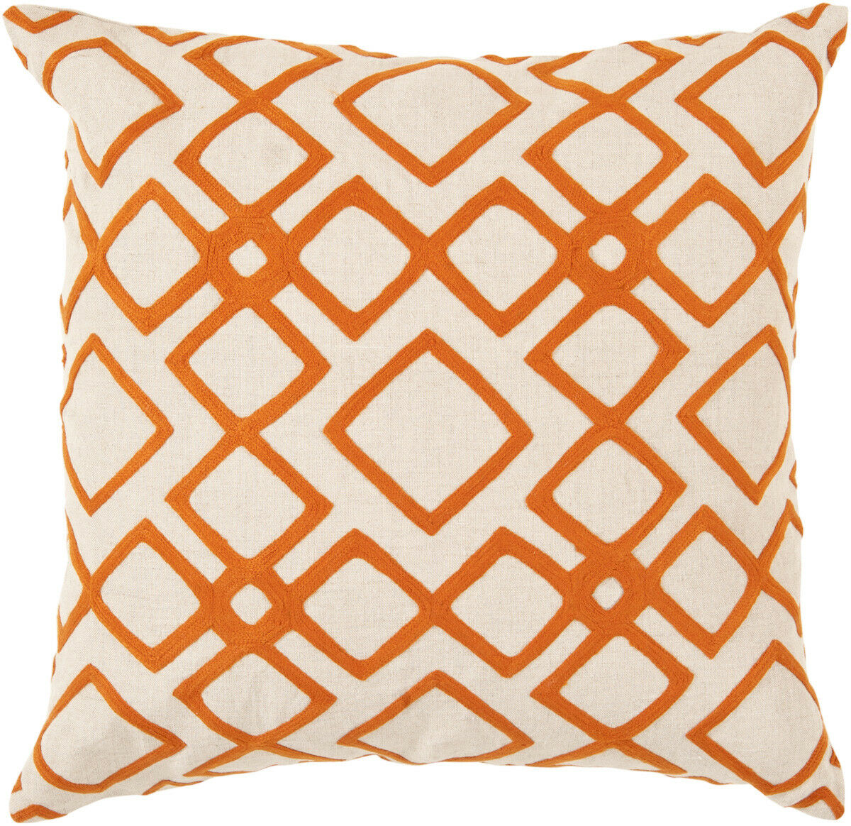 Surya oranges Squares Lattice Trellis Contemporary Area Rug Geometric COM015