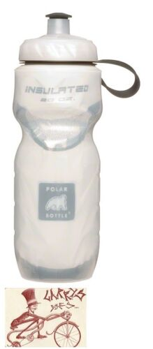 POLAR INSULATED WHITE 20 OZ WATER BOTTLE