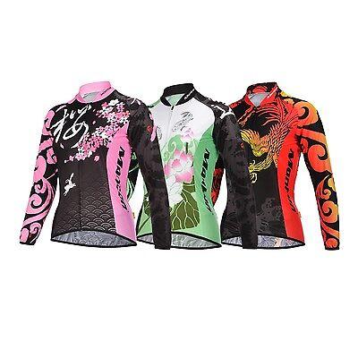 Monton Women's Long Sleeve T-shirt Shirts Bike Bicycle Racing Top Cycling Jersey