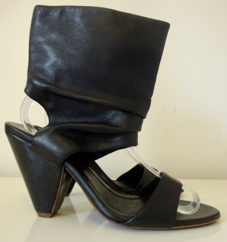 Look Strappy Leather Shoes 7 Slouch 100 Nero Ash Slouch Boots Cone Sandalo Z1Yx5qddnw