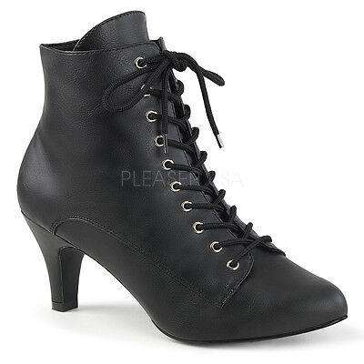Black Lace Up Vintage Granny Ankle