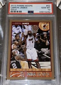 POP 1 of 12🔥2013 LeBron James PANINI NBA HOOPS GOLD #62 PSA 10 BGS lakers prizm